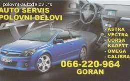 Delovi za Opelova vozila