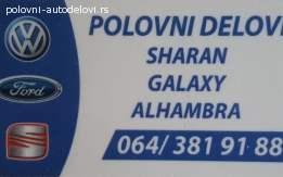Ford galaxy 1996-2009 sve vrste delova