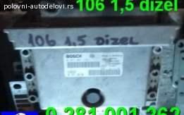 Kompjuter 106 1,5 dizel Bosch 0 281 001 262 Peugeot