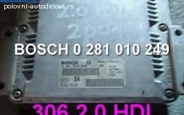Kompjuter 306 2,0 hdi BOSCH 0 281 010 249 Peugeot
