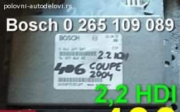 Kompjuter 406 2,2 hdi Bosch 0 265 109 089 Peugeot