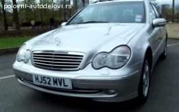 Mercedes-Benz C220 kompletan automobil u delovima