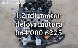 Motor 1.2 tdi kompletan delovi škoda fabia,roomster,rapid