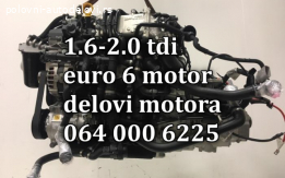 Motor 1.6 tdi euro 6 i delovi motora
