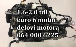 Motor 1.6 tdi EURO 6 kompletan delovi škoda fabia,roomster