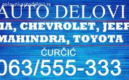 Novi auto delovi za kia,chevrolet, jeep, toyota, mahindra