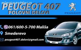Originalni polovni delovi za Peugeot 407