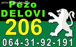Pežo 206 Disk Doboš Klešta Servo i DELOVI razni