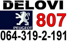 Pežo 807 STAKLO i DELOVI Peugeot