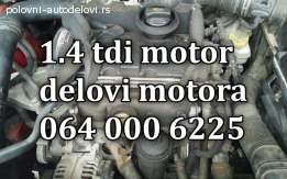 SKODA 1.4. TDI DELOVI MOTORA, KOMPLETAN MOTOR