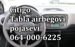 Škoda Citigo airbag, tabla, pojasevi