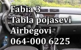 Škoda fabia 3 airbagovi, škoda fabia 3 pojasevi, škoda fabia