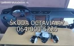 Skoda octavia A7 airbag pojasevi tabla