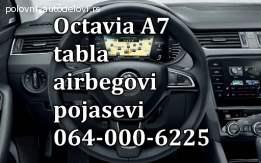 Škoda octavia A7 airbegovi, škoda octavia A7 pojasevi, škoda