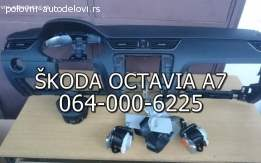 Škoda octavia A7 tabla airbegovi pojasevi