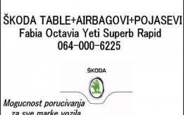 Table airbegovi pojasevi skoda