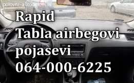 Škoda rapid airbegovi, škoda rapid pojasevi, rapid tabla