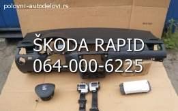 Škoda rapid tabla airbegovi pojasevi