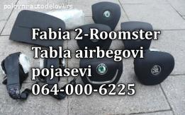 Skoda Roomster tabla airbag pojasevi