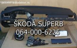 Skoda superb 2 tabla, pojasevi, airbegovi