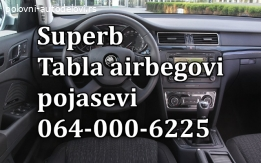 Škoda superb airbag-pojas-tabla