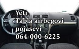 Škoda yeti airbag-pojas-tabla