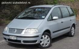 VW Sharan 1.8T 2002. god Delovi