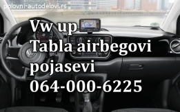 VW UP airbag, tabla, pojasevi