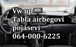 Vw UP airbagovi,  vw up pojasevi, vw up tabla