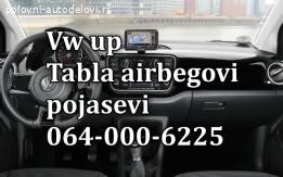 VW UP tabla pojasevi airbag